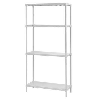 Heavy Duty Perforated 4-Shelf Wire Shelving Storage Durable Steel Construction