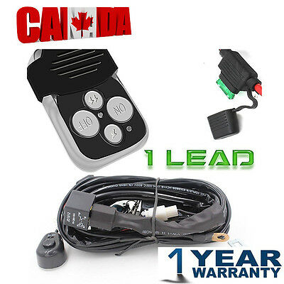 Wiring Kit With Wireless Remote Control for LED Light Bar Jeep Ute ATV SUV 1Lead