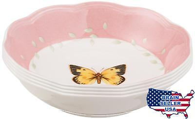 Lenox Butterfly Meadow Colors Fruit Dishes, Set of 4, New, Free Ship