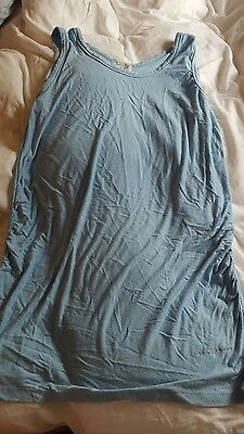 maternity bamboo top blue size M