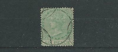 St Christopher SG9 1870 6d Green Fine Used