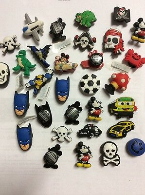 A Mixture Of 10 Boys Shoe Charms For Shoes/ Wristbands Or Crafts