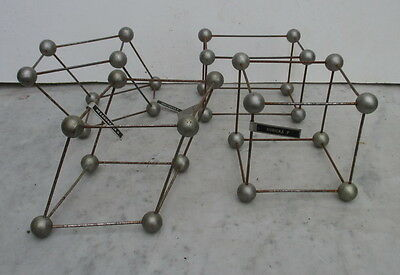 antique geometric iron shapes for school cube....