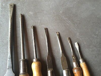 Collection Of Vintage Screwdrivers Stanley Duco Cooper And Sons