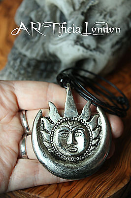 Solar | Lunar Pewter Men's Necklace Viking Pagan Norse Inspired Solid Jewellery
