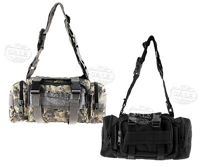 New Black/CP Waist Bag Pack Outdoor Military Tactical Hiking Camping Trekking