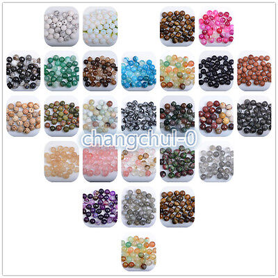 Wholesale Natural Gemstone Faceted Round Loose Spacer Beads 4/6/8/10/12mm