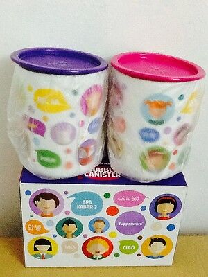 Tupperware One Touch Colourful Bubble Canister Set of 2 1.2L each BRAND NEW