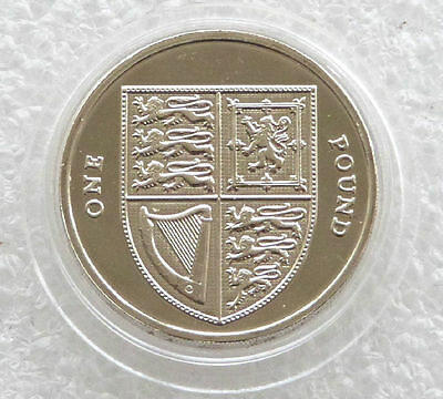 2015 Royal Shield of Arms BU £1 One Pound Coin Uncirculated - Fifth Portrait