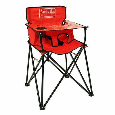 New Ciao Baby Portable High Chair Foldable Travel Red