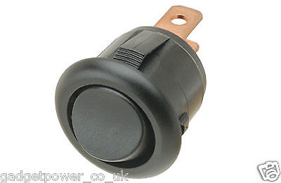 Mini Round Rocker Switch – 2 Position – Spst – On/off – Black – For 15Mm Hole