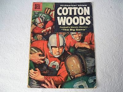 Football 1957 vintage Dell Comic Book #837 Cotton Woods All-American Athlete