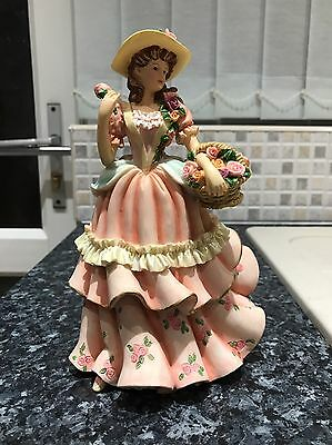 REGENCY Fine Arts, Hand Painted Limited Edition Figurine Gathering Flowers