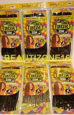 """Jazzy Hair Soft Faux Locs Crochet Hair 12"""" Inches """"Double Value Pack"""" UK Seller"""