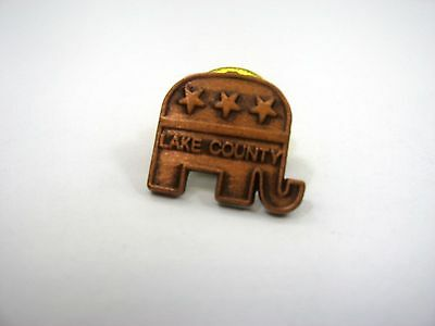 Vintage Collectible Pin: Republican Elephant Lake County