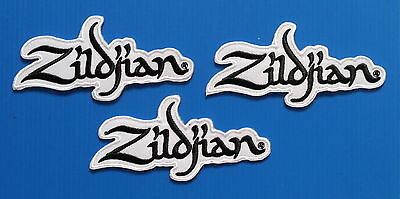 3 LOT ZILDJIANS CYMBALS DRUMS Embrodered Easy Iron Or Sewn On Patches Free Ship