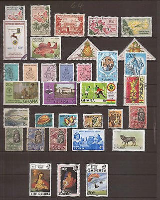 Gabon - Ghana - Gambia  -  Lot Of Stamps