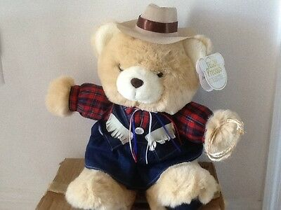 """Teddy Predious Collectibles Plush 19"""" Tall Cowgirl Dressed Up"""