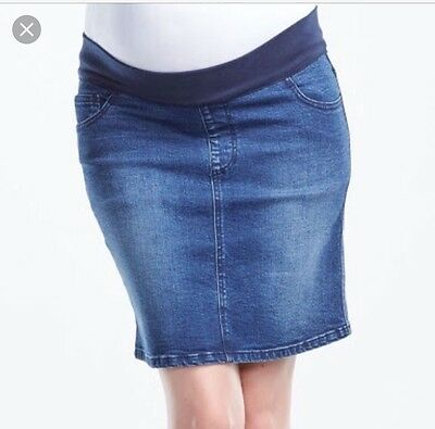 Soon Maternity Denim Skirt