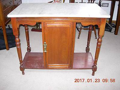 Victorian mahogany marble top wash stand excellent