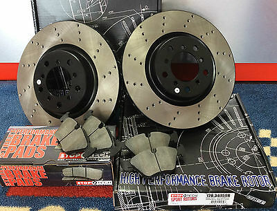 Bmw M3 E46 Coupe Cabrio Stoptech Front Brake Discs & Pads