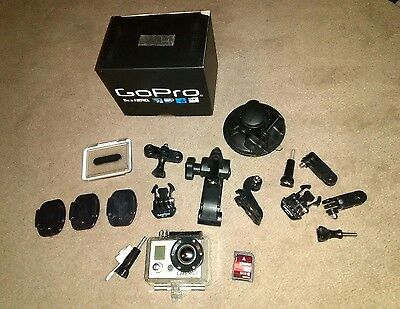 Used, Working Go Pro Hero 1 Motosport Edition With Mounts, Box & 32gb SD Card