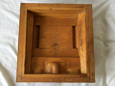 Vintage WOODEN INDUSTRIAL Mold Pattern Steampunk Foundry ACME Akron Oh PIPE BOX