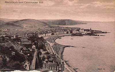 Aberystwyth from Constitution Hill Generla view Beach Panorama