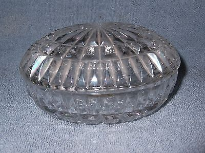 The European Collection 24% Lead Crystal Trinket Box Made in Germany