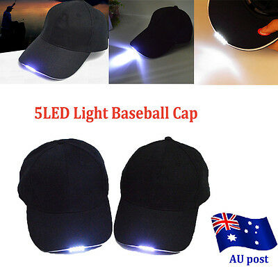 2016 New Hot Baseball Cap with 5LED Light Hat Fishing Camping Outdoor Hiking BO