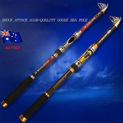 Super Strong Carbon Telescopic Spinning Pole Saltwater Sea Fishing Rods BO