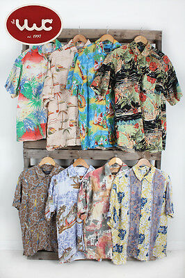 Vintage Wholesale Joblot Men's Summer holiday hawai hawaiian shirts mix x 25
