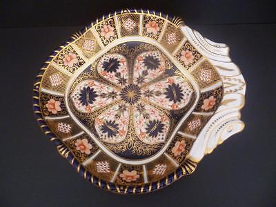 1St Quality  Royal Crown Derby Imari 1126 (1128) Scalloped Shell Shaped Dish