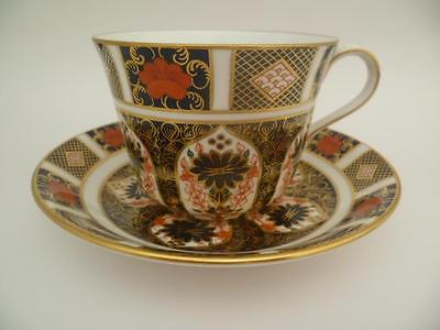 A Royal Crown Derby Imari 1128 Breakfast Tea Cup And Saucer 1St Quality Perfect
