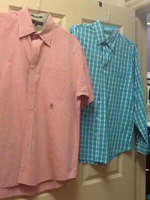Lot Of 2 Men's Dress Shirts Tommy Hilfiger And Dockers Sz Large