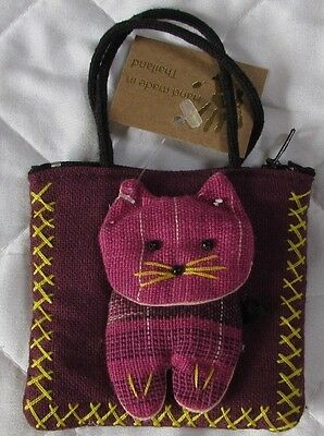 Ethically Traded Cat Purse - NEW