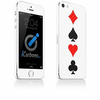 iCarbons Full House iPhone 5 / 5s White Carbon Fibre Skin