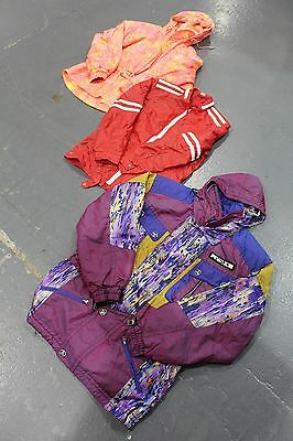 VINTAGE WHOLESALE Crazy Patterned Puffa 80's 90's Ski Jacket Mix x 10