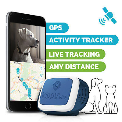 Kippy VITA GPS Tracker e Activity monitor per animali, cani, gatti. Navy Patrol