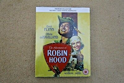 Blu-Ray The Adventures Of Robin Hood ( 1938 ) Premium Exclusive Edition New Seal