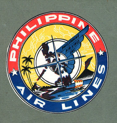 Airline luggage label Philippine Islands PAL #732