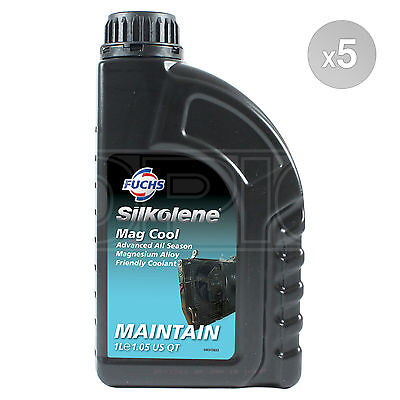 Silkolene MAG COOL long term anti-freeze and coolant 5 x 1 Litres 5L