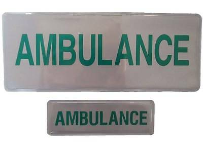 AMBULANCE Mid Size Reflective Badge SET Medic Paramedic Student EMT