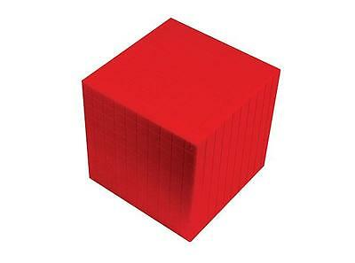 MAB Base Ten Blocks Componets Cube Red 1p Maths Teacher Resource Learning