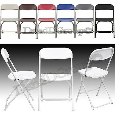 800 LBS Capacity Premium Plastic Folding Commercial Chair Wedding Lot Stackable