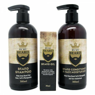 By My Beard Conditioner & Face Moisturiser 300Ml / Shampoo 300Ml / Oil 30Ml