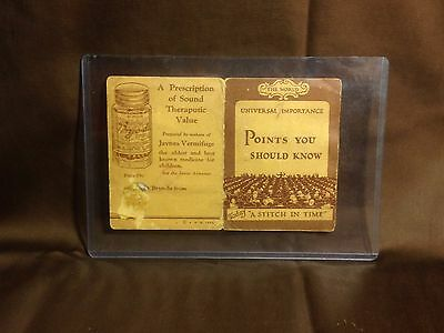 RARE 1929 Piccadilly Sewing Needles Advertisement Bryo-Da Tonic Jaynes Vermifuge
