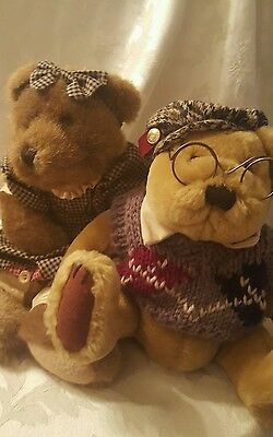 Brass Button Bear Sherwood Pickford  Bears Hat Glasses Handcrafted And Friend