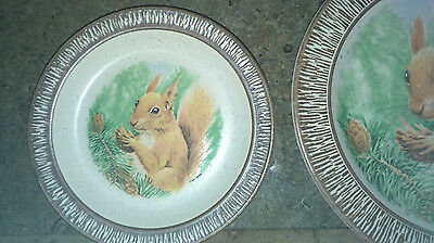 2 Purbeck Pottery Plates Squirell Free Postage Buy them now or best offer