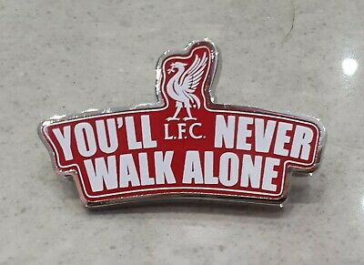 Liverpool Pin Badge - You'll Never Walk Alone with Liverbird - Red and White